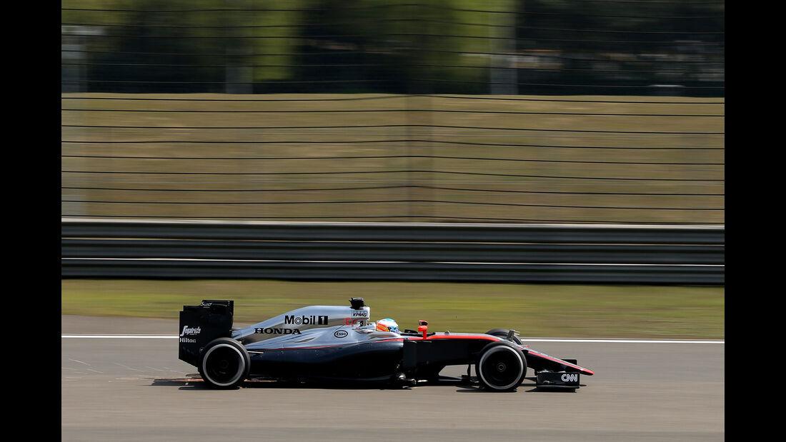 Fernando Alonso - McLaren - Formel 1 - GP China - Shanghai - 10. April 2015