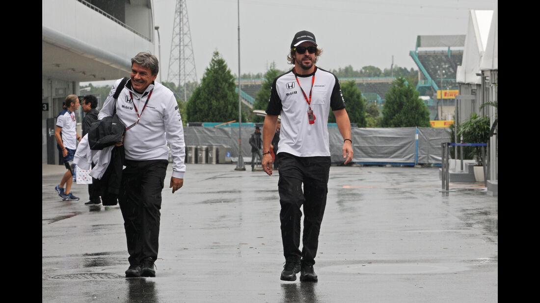 Fernando Alonso - McLaren - Formel 1 - GP Japan - Suzuka - 24. September 2015
