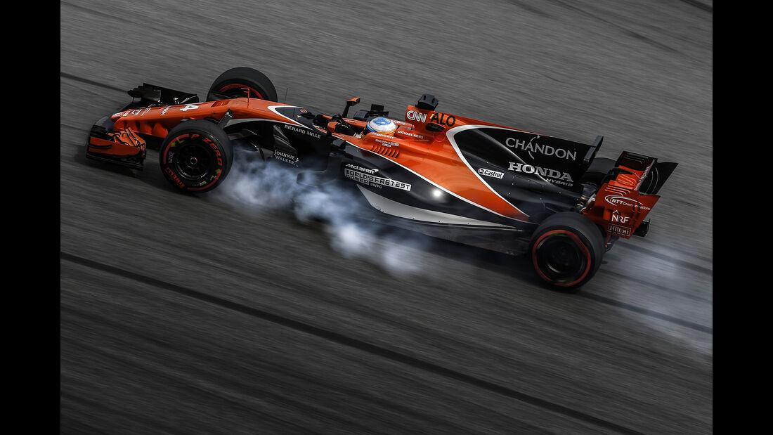 Fernando Alonso - McLaren - Formel 1 - GP Malaysia - Sepang - 29. September 2017
