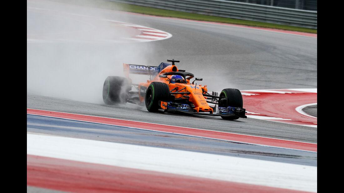Fernando Alonso - McLaren - Formel 1 - GP USA - 19. Oktober 2018