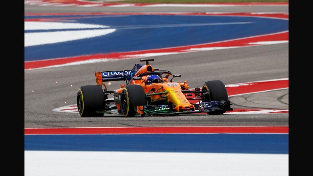 Fernando Alonso - McLaren - Formel 1 - GP USA - Austin - 20. Oktober 2018
