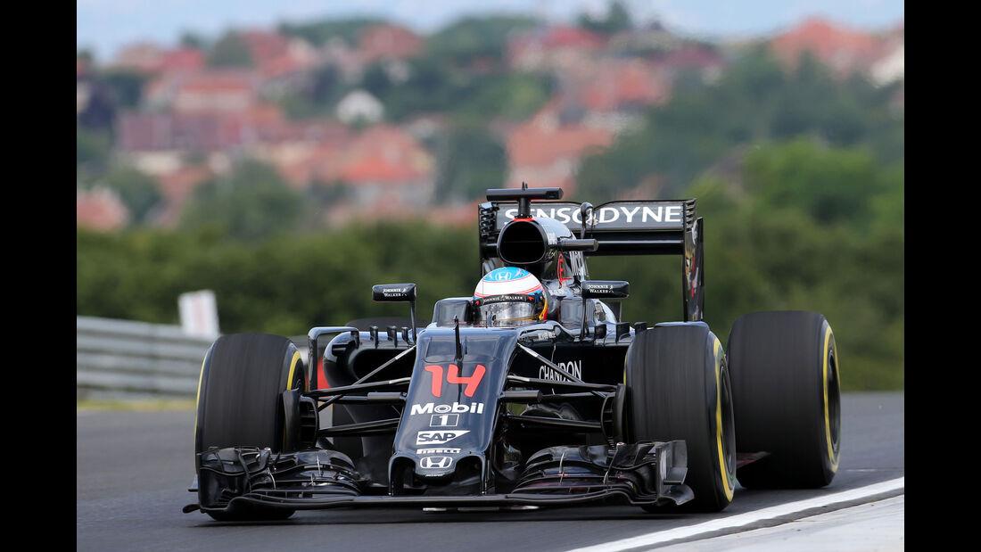 Fernando Alonso - McLaren - Formel 1 - GP Ungarn - 22. Juli 2016