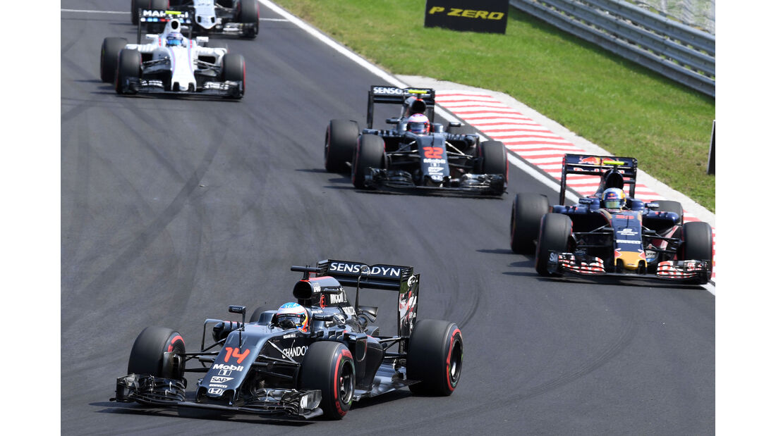 Fernando Alonso - McLaren - Formel 1 - GP Ungarn - 24. Juli 2016