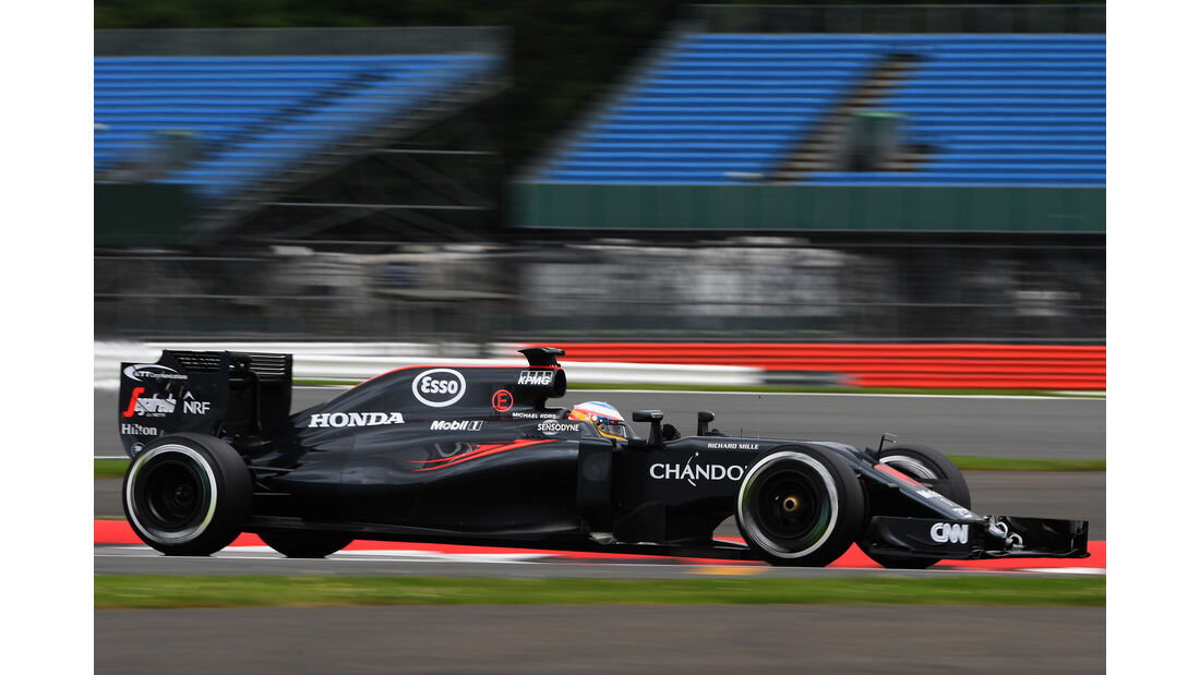 Fernando Alonso - McLaren - Formel 1 - Silverstone-Test - 12. Juli 2016