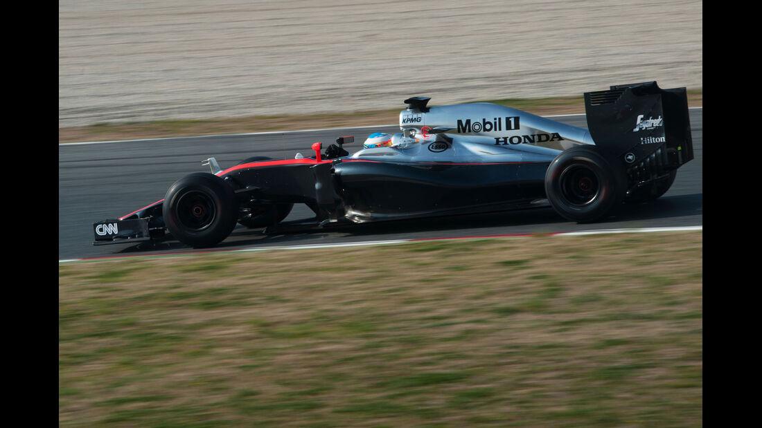 Fernando Alonso  - McLaren - Formel 1-Test - Barcelona - 20. Februar 2015