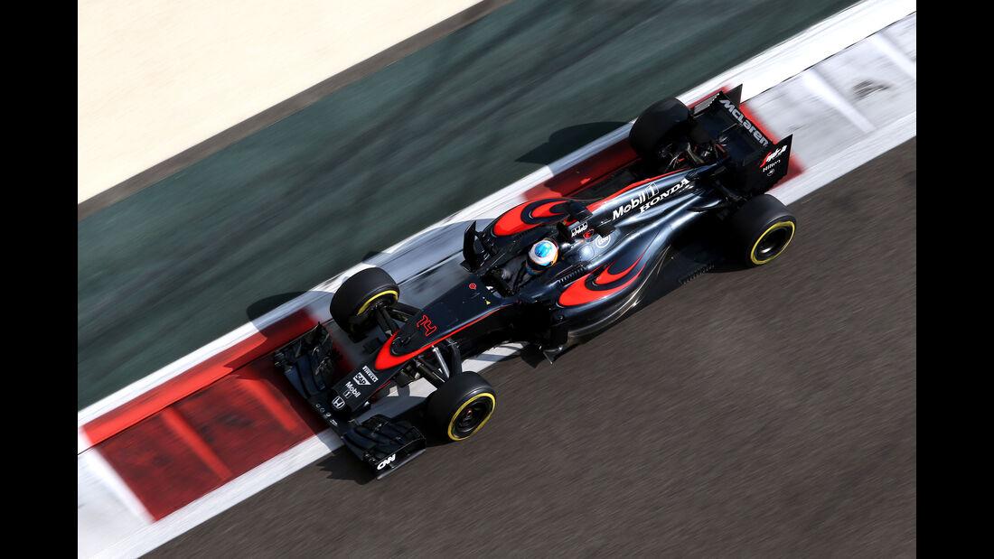 Fernando Alonso - McLaren - GP Abu Dhabi - 28. November 2015