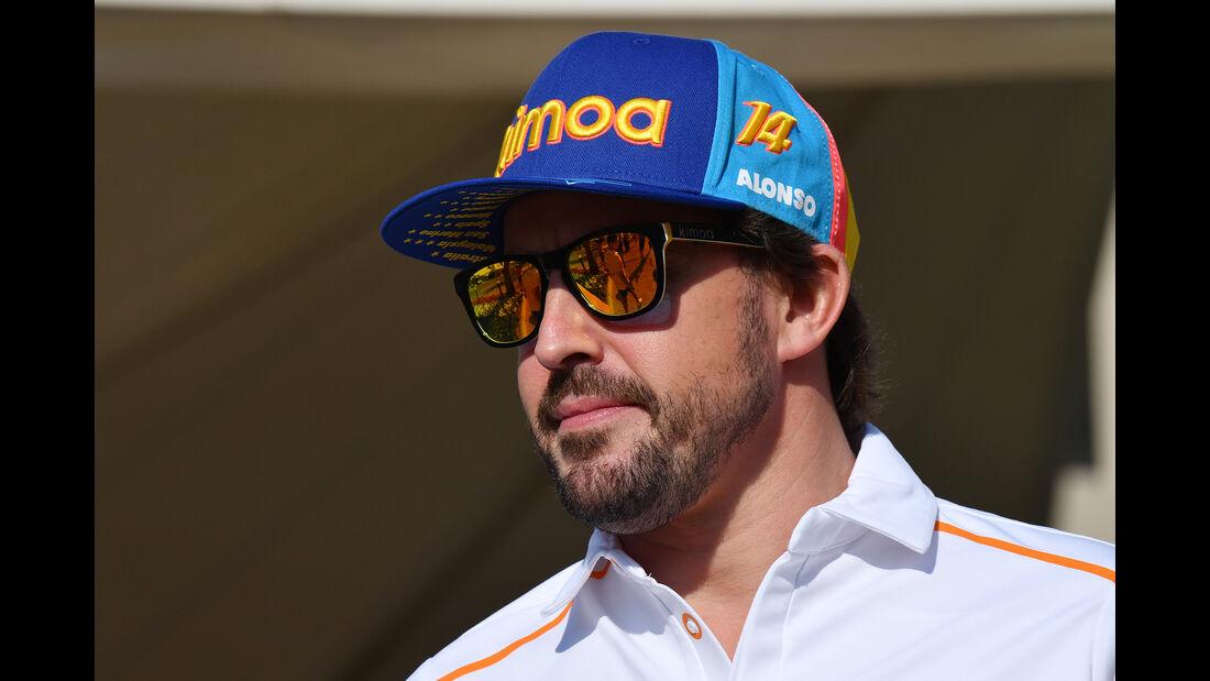 Fernando Alonso - McLaren - GP Abu Dhabi - Formel 1 - 22. November 2018
