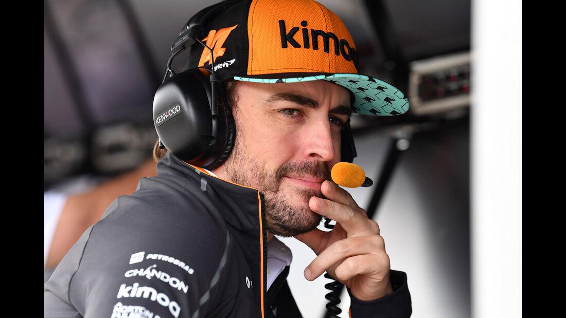 Fernando Alonso - McLaren - GP Brasilien - Interlagos - Formel 1 - Freitag - 9.11.2018
