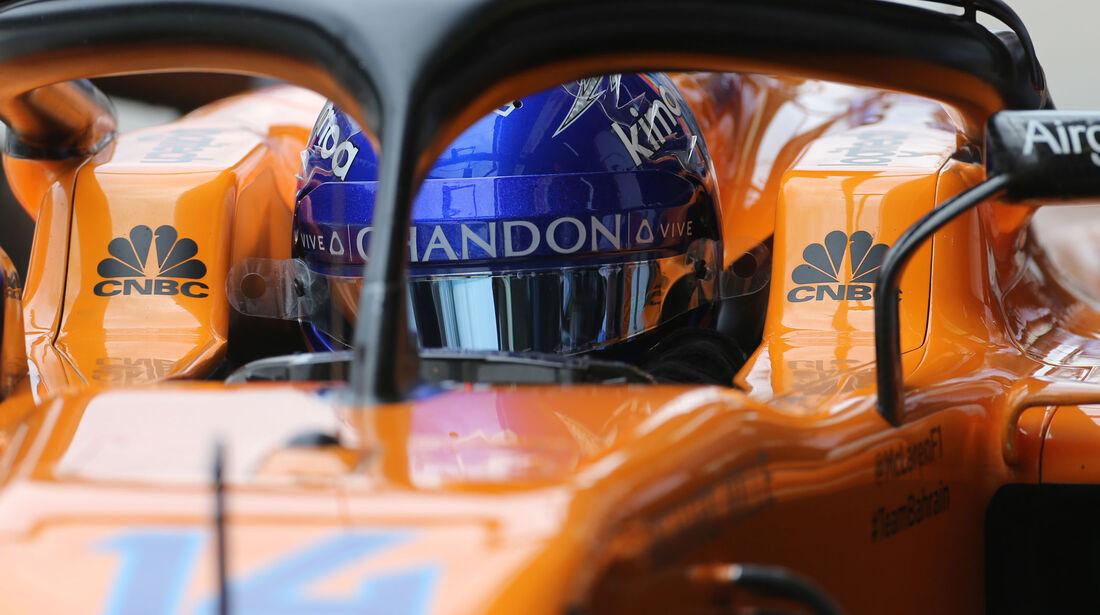 Fernando Alonso - McLaren - GP Brasilien - Interlagos - Formel 1 - Samstag - 10.11.2018