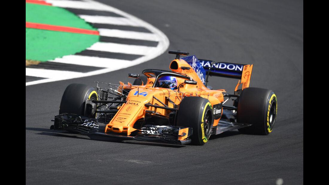 Fernando Alonso - McLaren - GP England - Silverstone - Formel 1 - Freitag - 6.7.2018