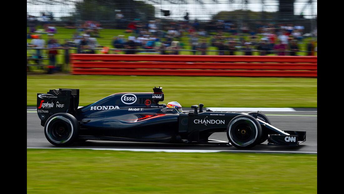 Fernando Alonso - McLaren - GP England - Silverstone - Formel 1 - Freitag - 8.7.2016