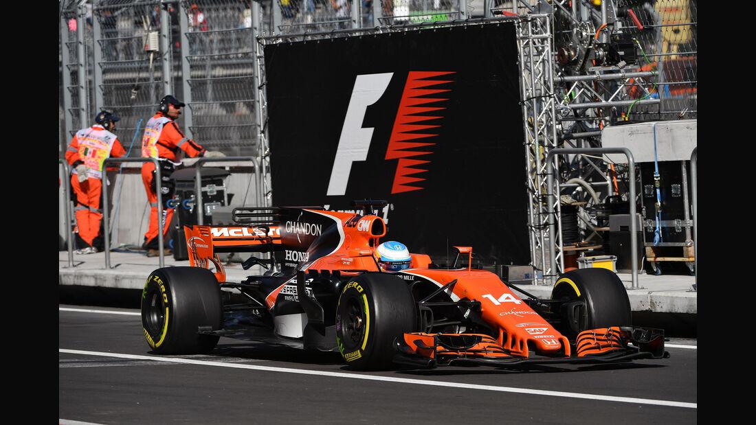 Fernando Alonso - McLaren - GP Mexiko - Formel 1 - Freitag - 27.10.2017