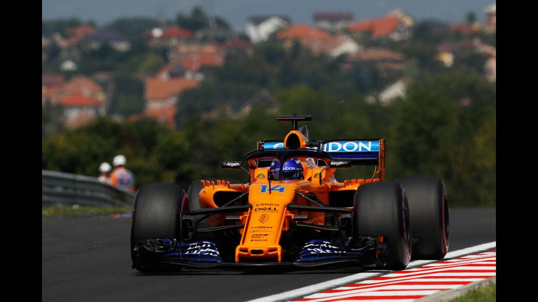 Fernando Alonso - McLaren - GP Ungarn - Budapest - Formel 1 - Freitag - 27.7.2018