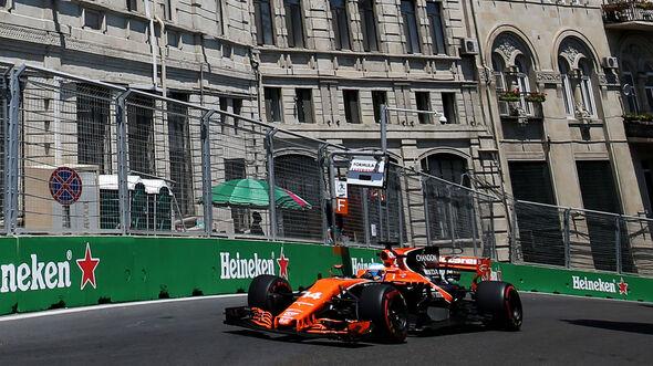 Fernando Alonso - McLaren-Honda - Formel 1 - GP Aseerbaidschan 2017 - Training - Freitag - 23.6.2017