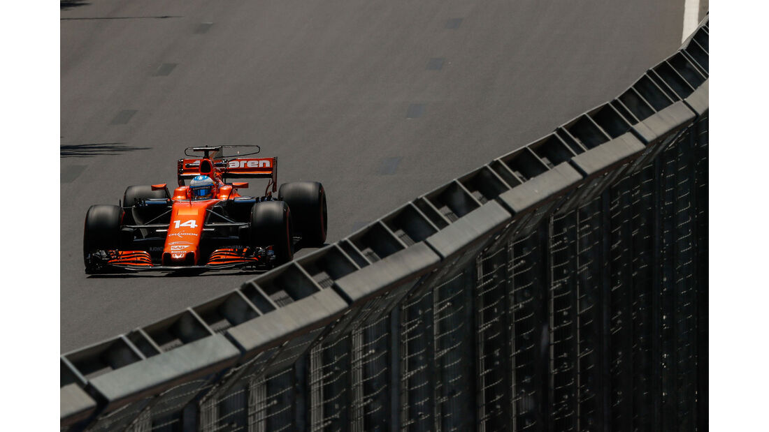 Fernando Alonso - McLaren-Honda - Formel 1 - GP Aserbaidschan 2017 - Training - Freitag - 23.6.2017