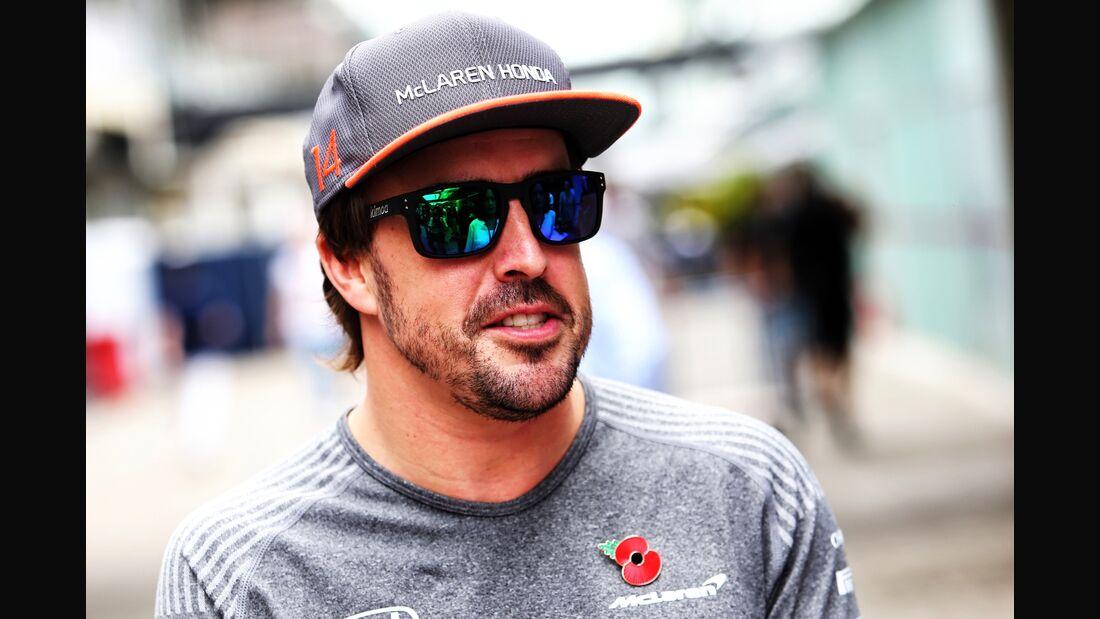 Fernando Alonso - McLaren-Honda - Formel 1 - GP Brasilien - 9. November 2017