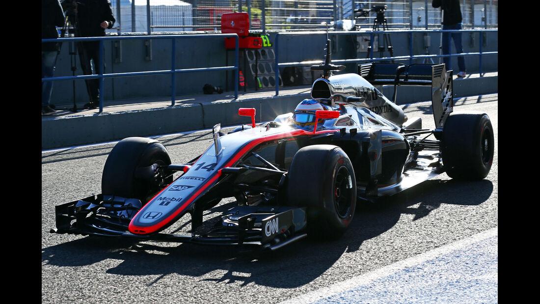Fernando Alonso - McLaren-Honda - Formel 1-Test Jerez - 1. Febraur 2015