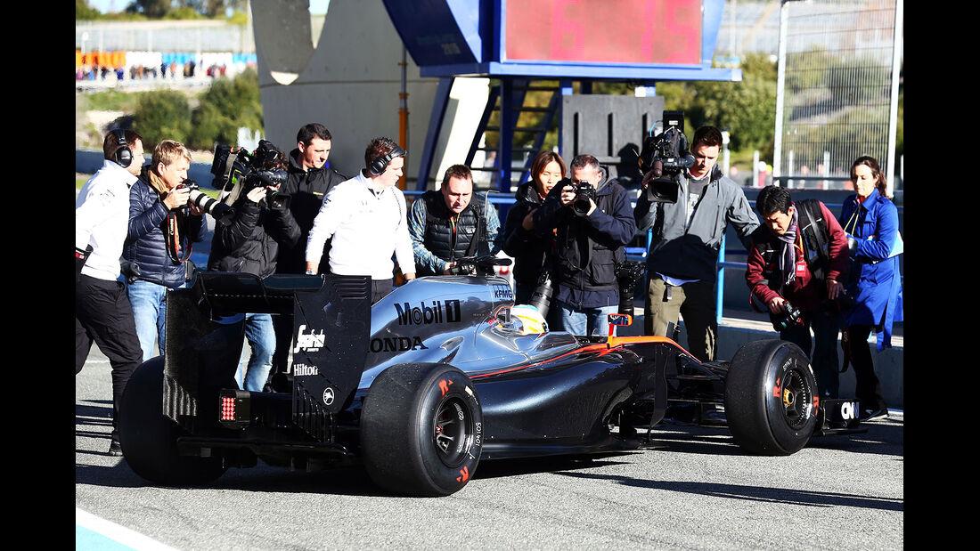 Fernando Alonso - McLaren-Honda - Formel 1-Test Jerez - 1. Februar 2015