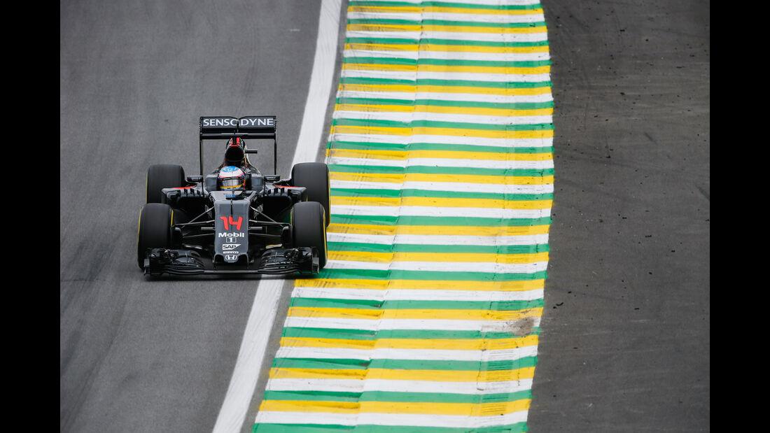 Fernando Alonso - McLaren-Honda - GP Brasilien 2016 - Interlagos - Qualifying