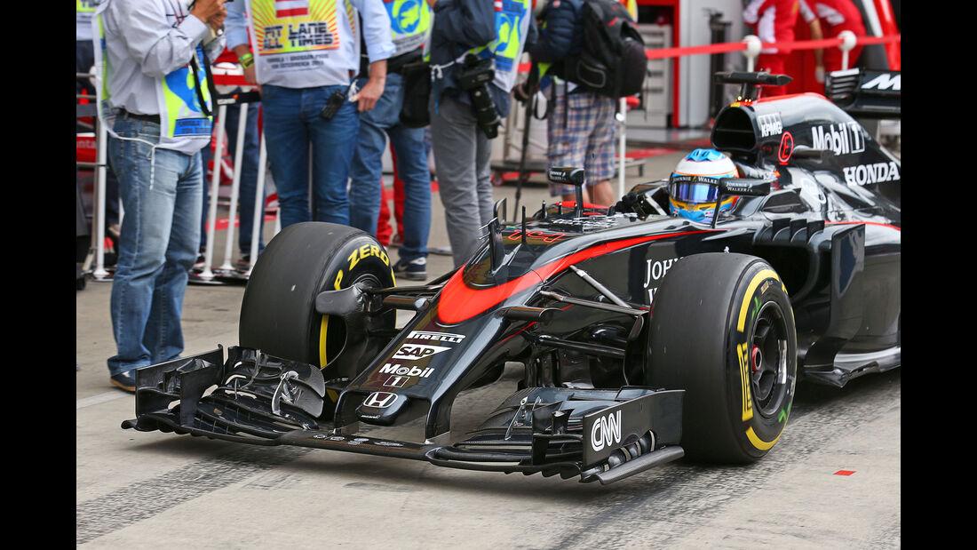 Fernando Alonso - McLaren-Honda - GP Österreich - Formel 1 - Freitag - 19.6.2015