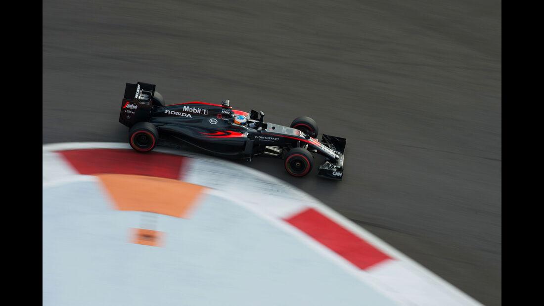 Fernando Alonso - McLaren-Honda - GP Russland - Qualifying - Samstag - 10.10.2015