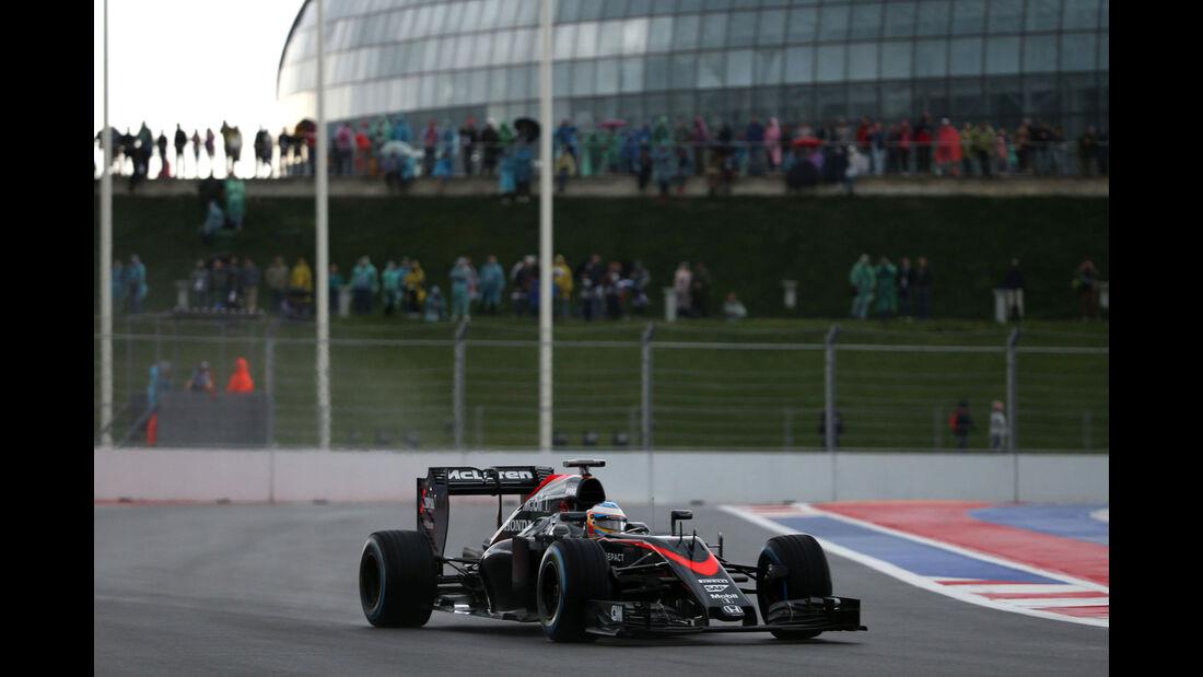 Fernando Alonso - McLaren-Honda - GP Russland - Sochi - Freitag - 9.10.2015
