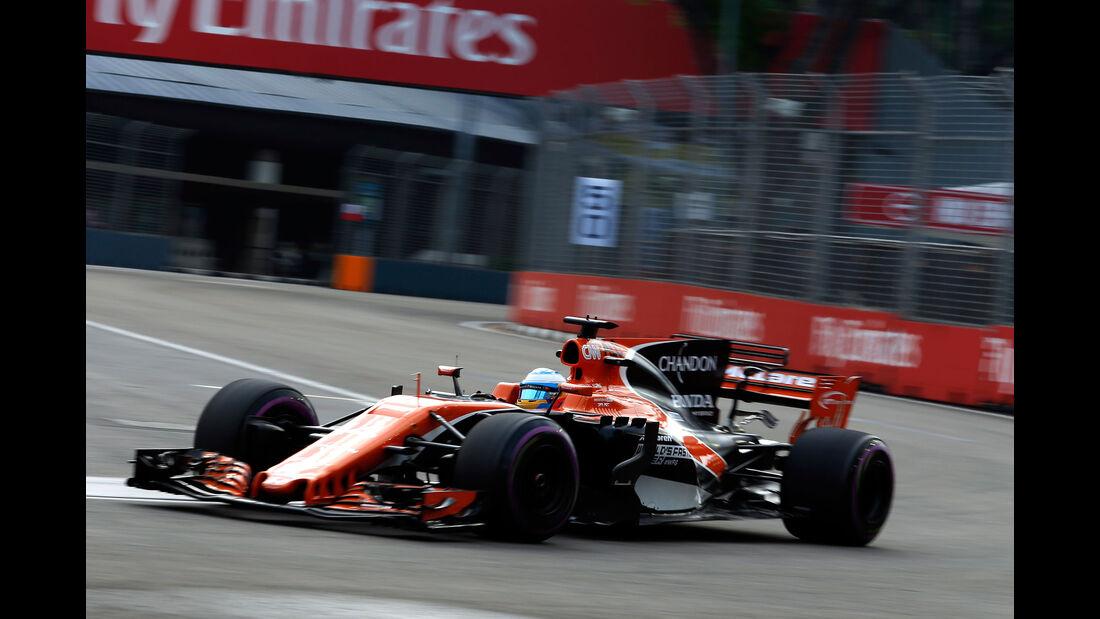 Fernando Alonso - McLaren-Honda - GP Singapur - Formel 1 - Freitag - 15.9.2017