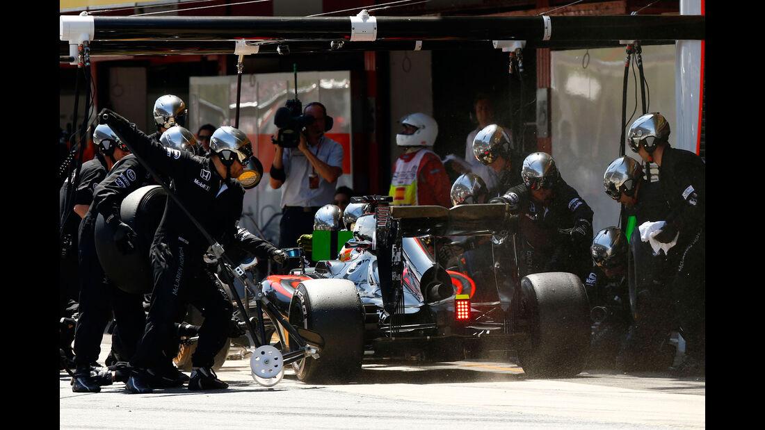Fernando Alonso - McLaren-Honda - GP Spanien 2015 - Rennen - Sonntag - 10.5.2015