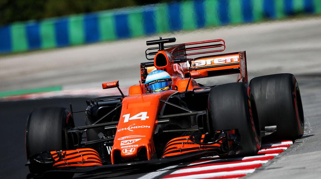 Fernando Alonso - McLaren-Honda - GP Ungarn - Budapest - Formel 1 - 28.7.2017