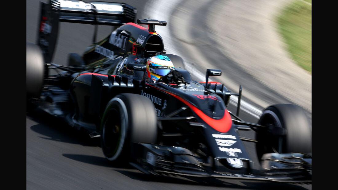 Fernando Alonso - McLaren-Honda - GP Ungarn - Budapest - Freitag - 24.7.2015