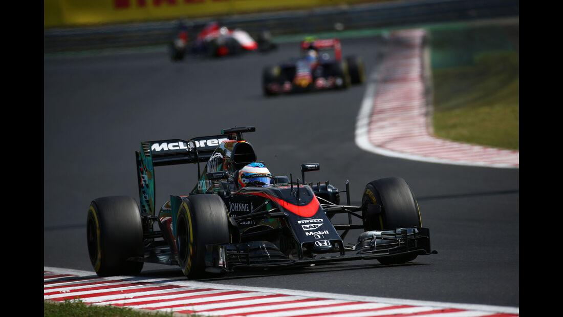 Fernando Alonso - McLaren-Honda - GP Ungarn - Budapest - Rennen - Sonntag - 26.7.2015