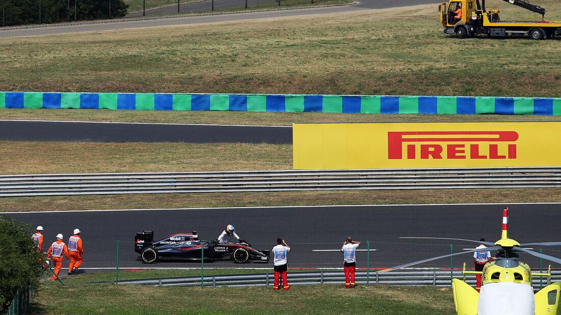 Fernando Alonso - McLaren-Honda - GP Ungarn - Qualifying - Samstag - 25.7.2015