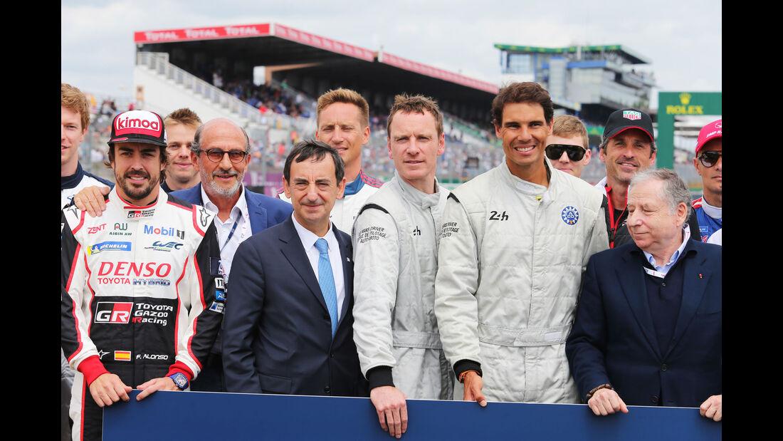Fernando Alonso - Pierre Fillon - Michael Fassbender - Rafael Nadal - Jean Todt - 24h-Rennen Le Mans 2018 - Samstag - 16.6.2018