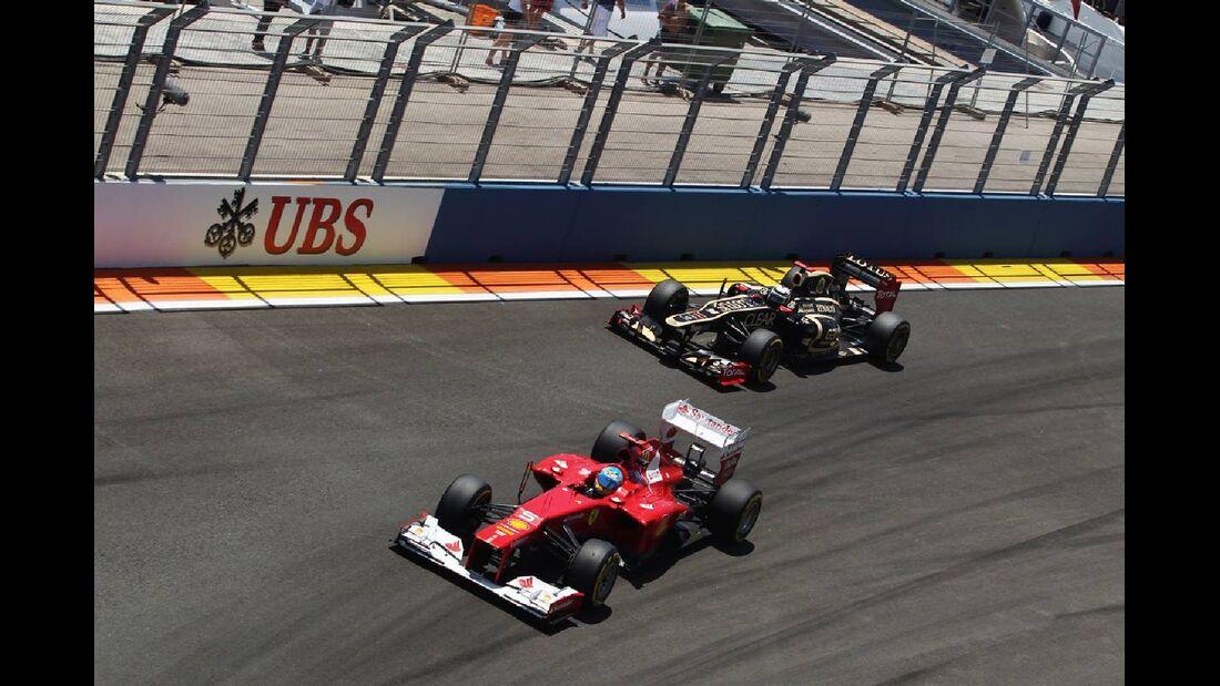 Fernando Alonso Romain Grosjean  - Formel 1 - GP Europa - 24. Juni 2012