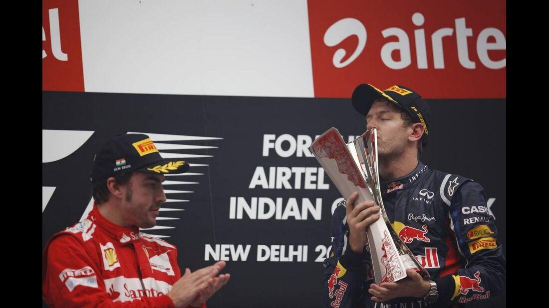 Fernando Alonso Sebastian Vettel - Formel 1 - GP Indien - 28. Oktober 2012