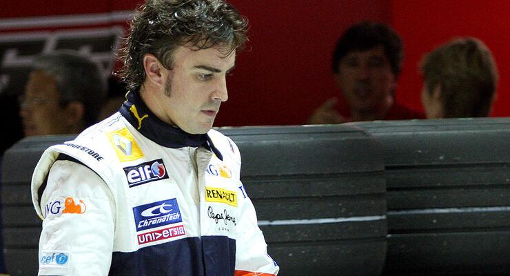 Fernando Alonso Singapur 2008