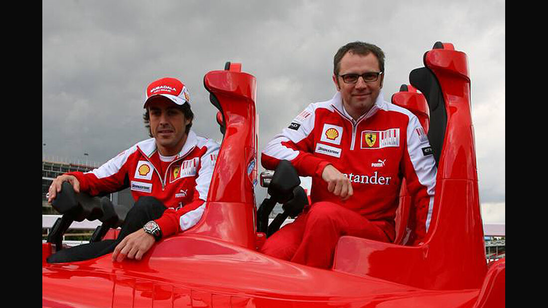 Fernando Alonso Stefano Domenicali