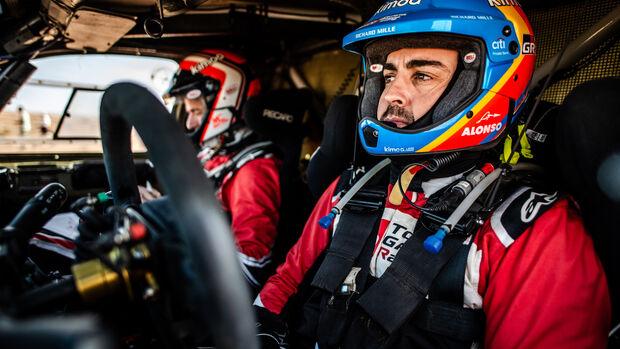 Fernando Alonso - Toyota Hilux - Rallye Marokko