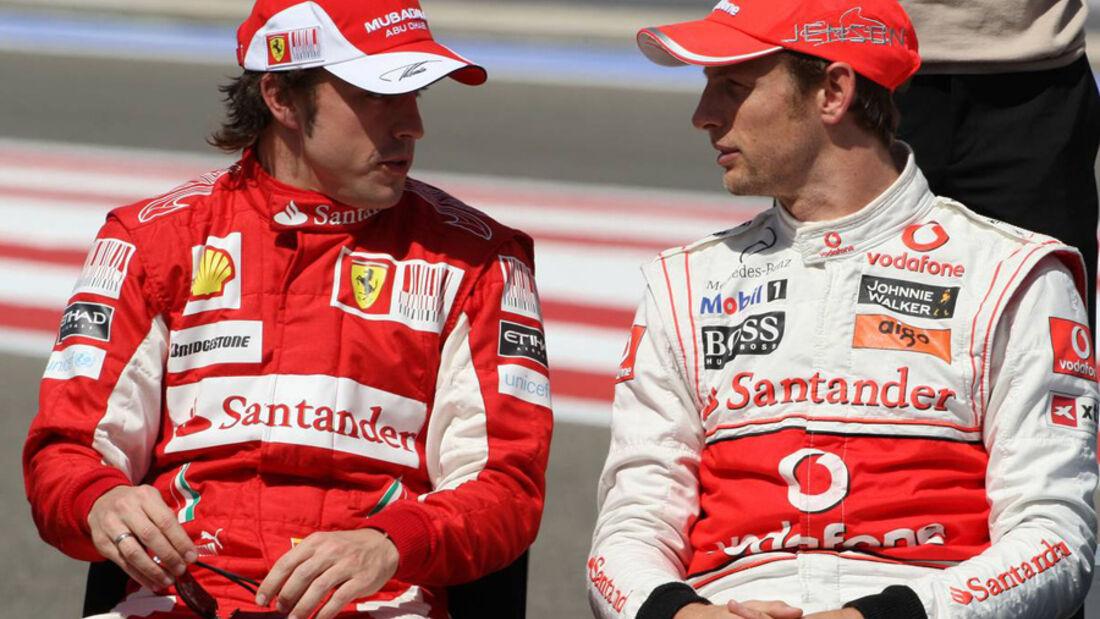 Fernando Alonso und Jenson  Button