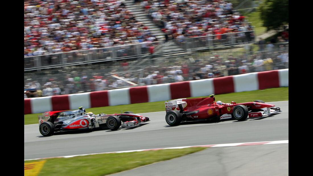 Fernando Alonso und Lewis Hamilton