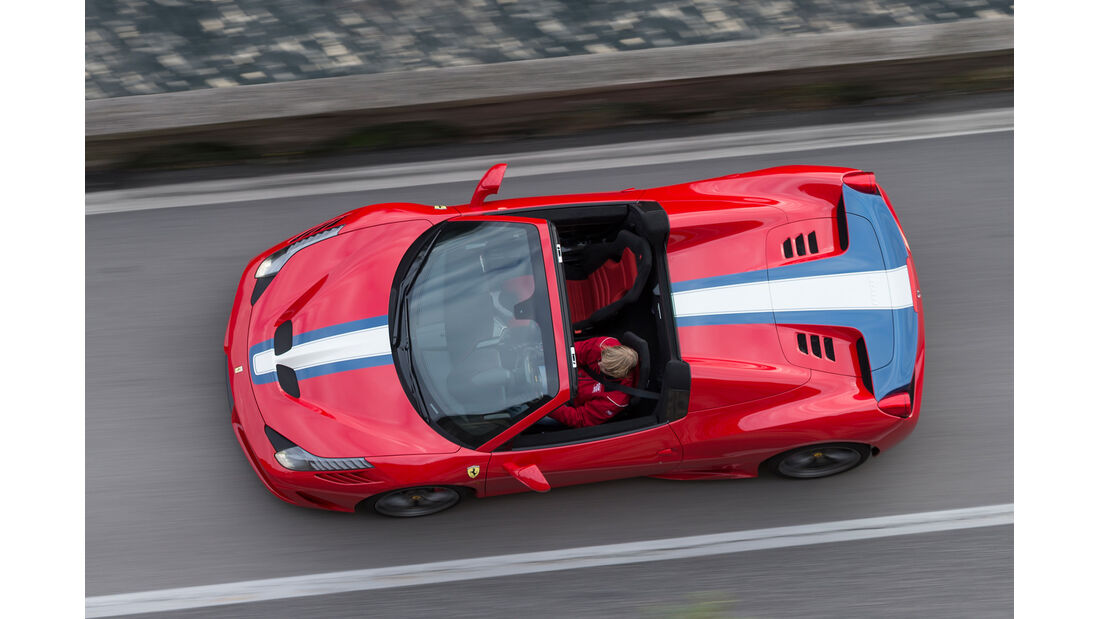 Ferrai 458 Speciale A, Draufsicht