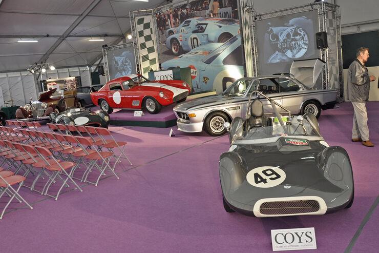Ferrari 250 GT LWB, BMW 3.0 CSL Batmobil, Elva MK V, Autos der Coys-Auktion auf dem AvD Oldtimer Grand-Prix 2010