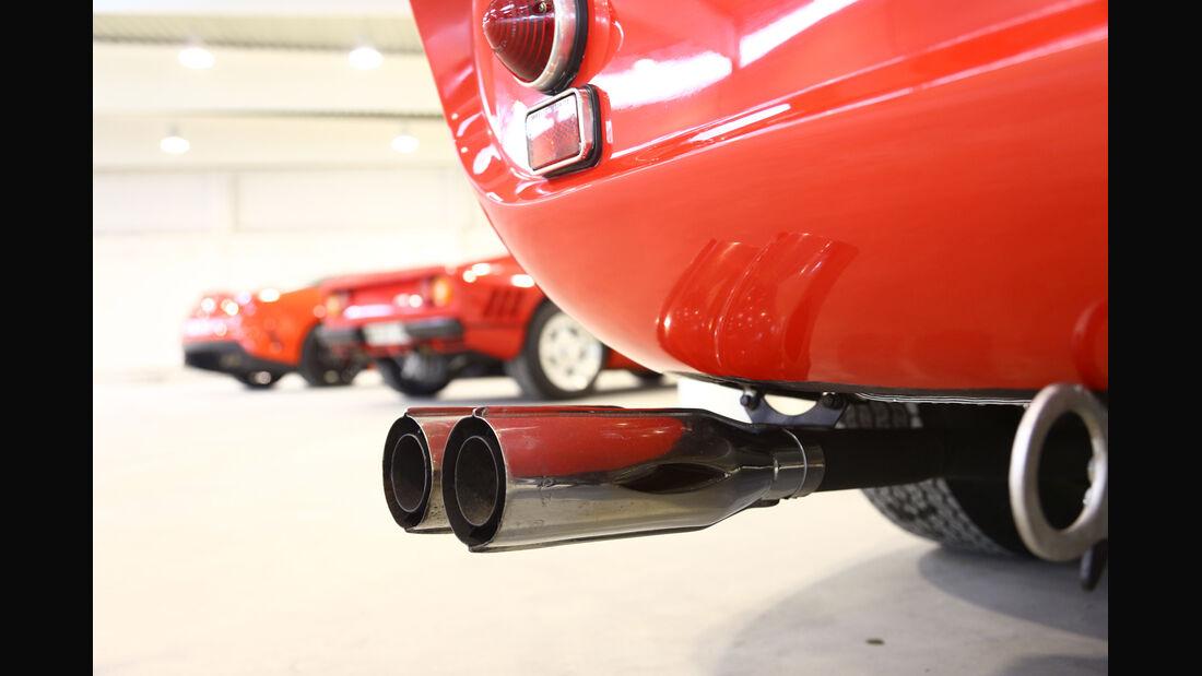 Ferrari 250 GTO, Auspuff, Endrohr