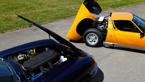 Ferrari 275 GTB/4, Lamborghini Miura P 400, Motoren