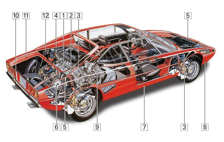 Ferrari 308 GT4, Schwachpunkte, Igelbild