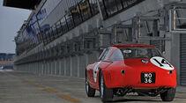Ferrari 340/376 MM, Heckansicht, Boxengasse