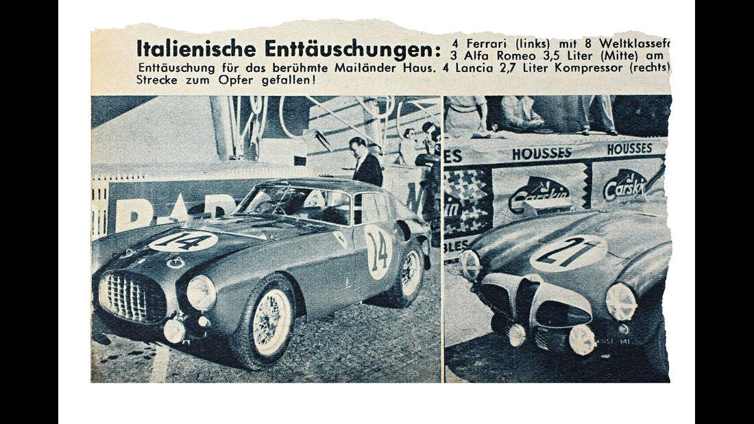 Ferrari 340/376 MM, Le Mans, 1964, Zeitungsausschnitt