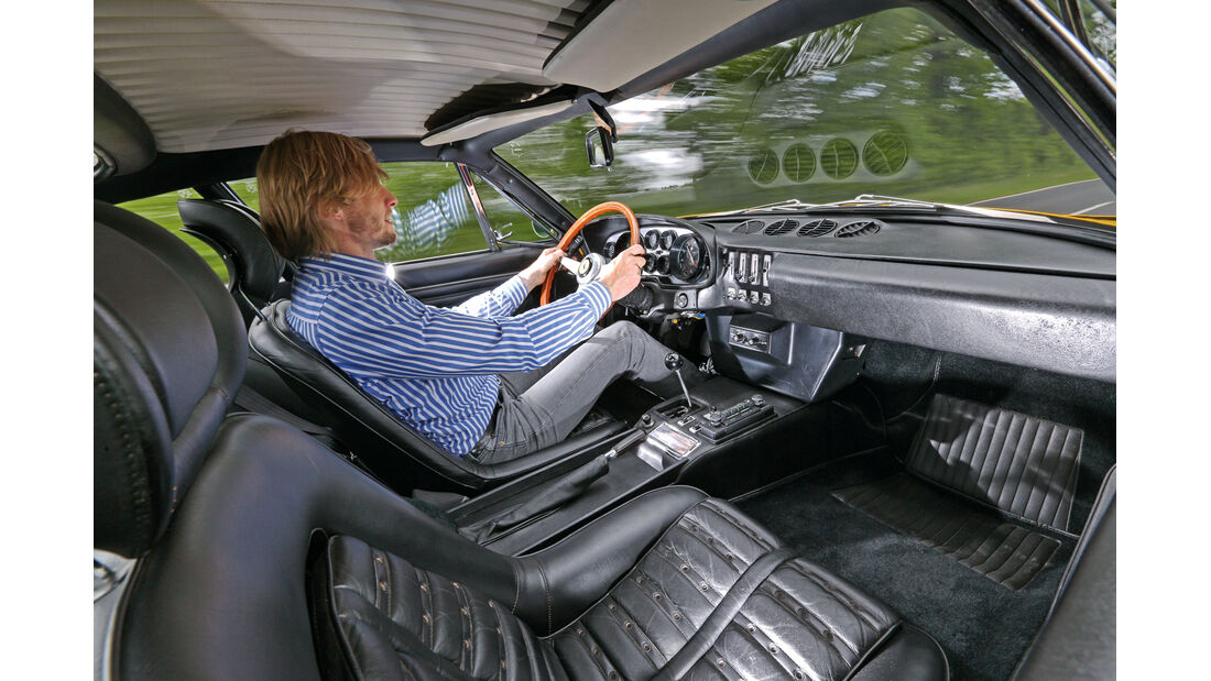 Ferrari 365 GTB/4, Cockpit, Fahrer