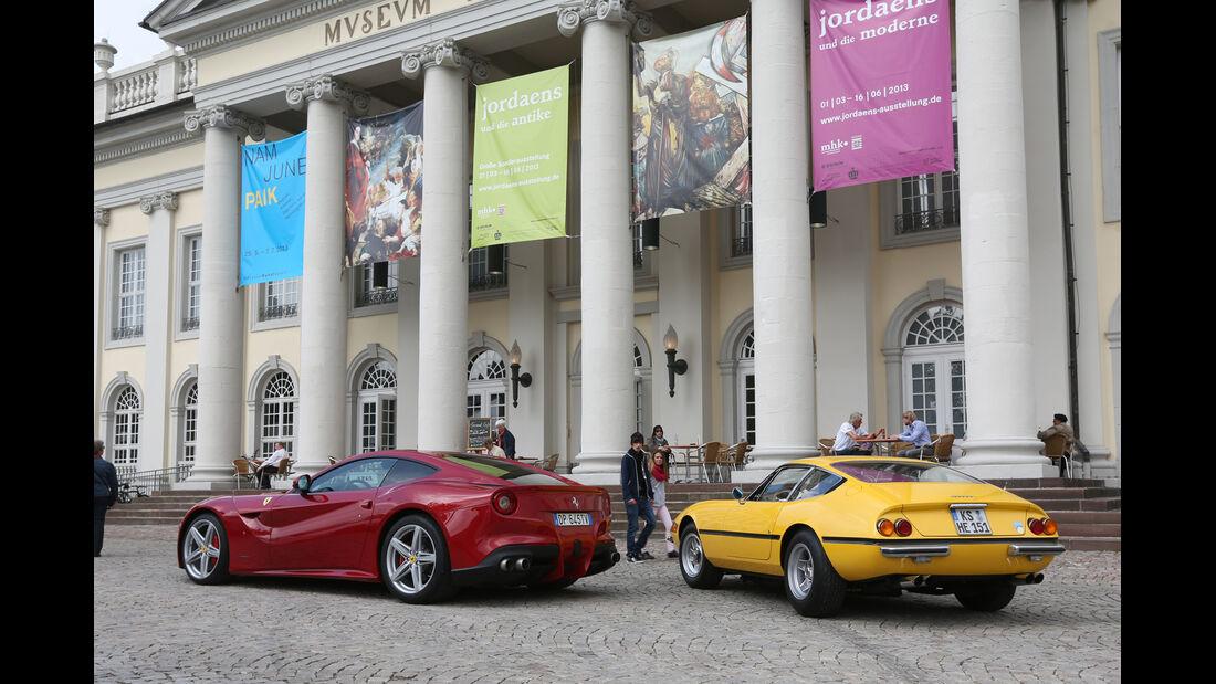 Ferrari 365 GTB/4, Ferrari F12 Berlinetta,  Heckansicht