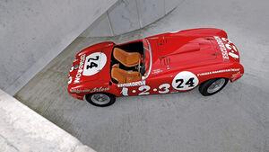 Ferrari 375 MM Spider, von oben, Seitenansicht